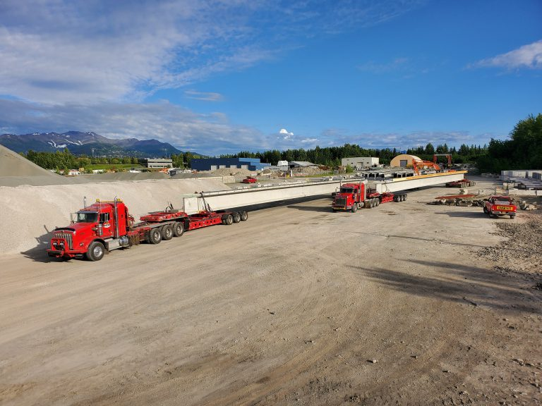 STR Alaska logistics transport truck